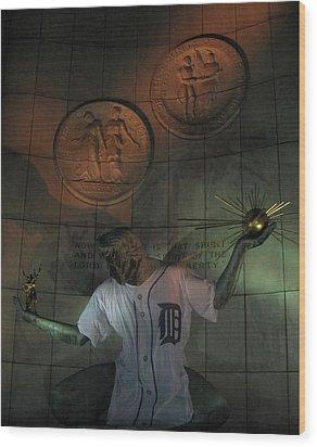 Spirit Of Detroit Tigers Wood Print