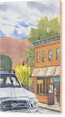 Spirit Of Moab Wood Print by Jeff Mathison