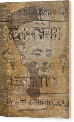 Spirit Of Nefertiti Egyptian Queen   Wood Print