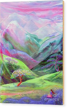 Spirit Of Spring Wood Print by Jane Small