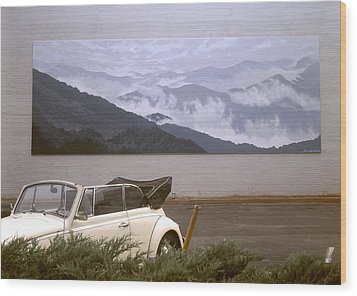 Spirit Of The Air Shown With Car Wood Print by Blue Sky