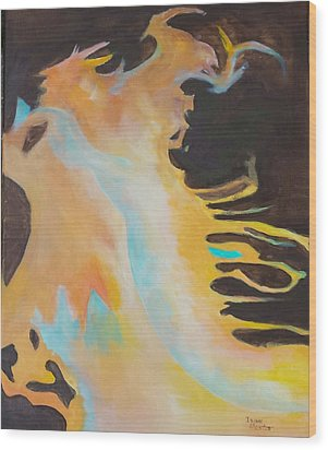 Spirit Of The Fire Wood Print by Isaac Alcantar