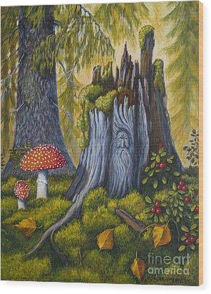 Spirit Of The Forest Wood Print by Veikko Suikkanen