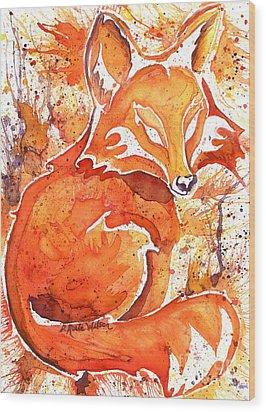 Spirit Of The Fox Wood Print