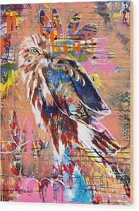 Spirit Of The Hawk Wood Print