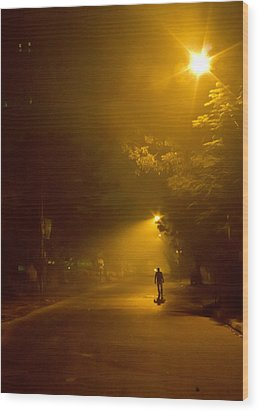 Spirit Of The Night Wood Print by Sourav Bose