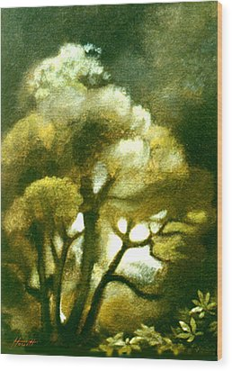 Spirit Of The Tarairi Tree Wood Print by Patricia Howitt