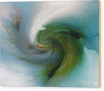 Spirit Of The White Dolphin Wood Print by Carol Cavalaris