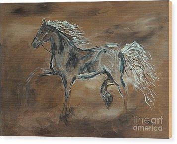 Spirited Wood Print by Leslie Allen