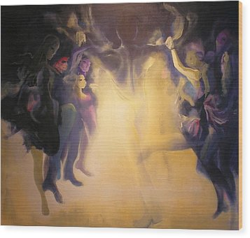 Wood Print featuring the painting Spirits by Georg Douglas