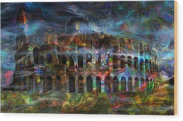 Spirits Of The Coliseum Wood Print by Jack Zulli