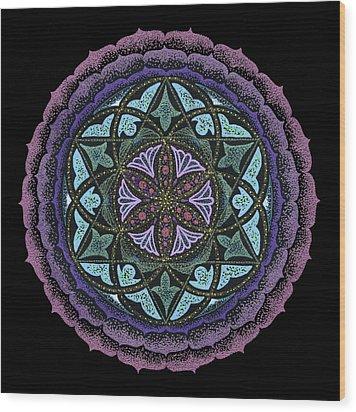 Spiritual Heart Wood Print by Keiko Katsuta