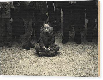 Spiritual Mindset Wood Print by Michel Verhoef