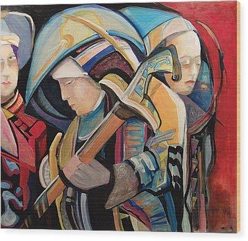 Spiritual Soldiers Wood Print by Shane Guinn