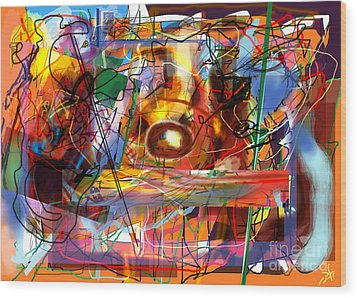 Spiritual Understanding 3 Wood Print by David Baruch Wolk