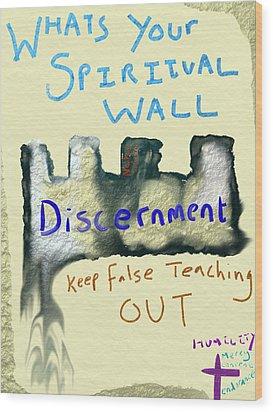 Spiritual Wall Wood Print by Michael Jordan