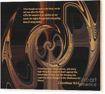 Spiritual Warfare Wood Print by Wayne Cantrell