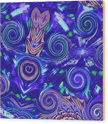 Spiritual Waters Wood Print
