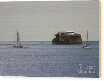 Spitbank Fort Martello Tower Wood Print