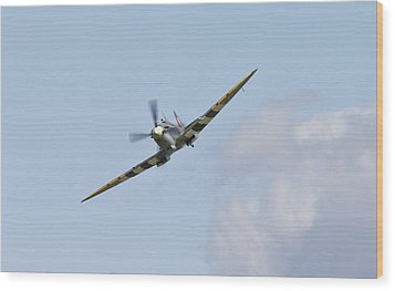 Spitfire Wood Print by Maj Seda