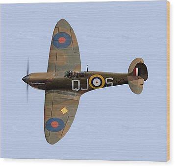 Spitfire Mk 1 R6596 Qj-s Wood Print by Gary Eason