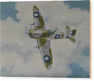 Spitfire Mk.viii Wood Print by Murray McLeod