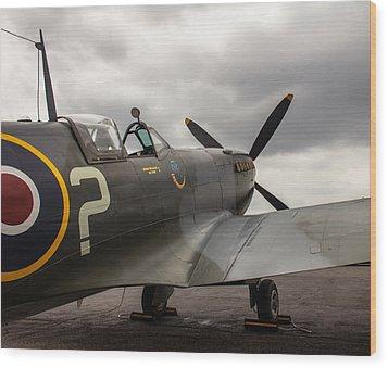 Spitfire On Display Wood Print