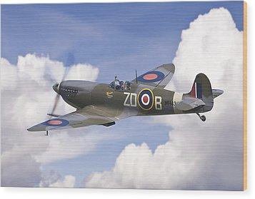 Spitfire Pass Wood Print
