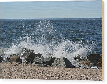 Wood Print featuring the photograph Splash by Karen Silvestri