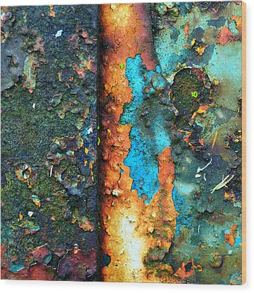 Splash Of Blue Wood Print