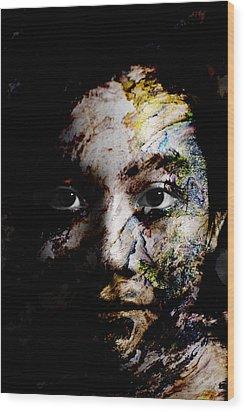 Splash Of Humanity Wood Print by Christopher Gaston