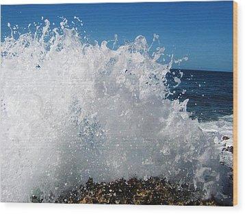 Splashy Island Wood Print by Imelda Sausal-Villarmino