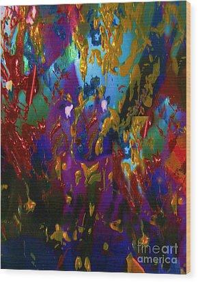 Splatter Wood Print by Doris Wood
