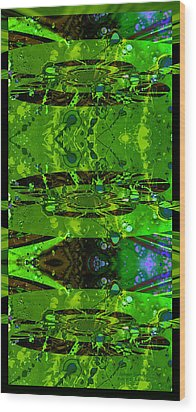 Wood Print featuring the photograph Splatter Galaxy by Robert Kernodle
