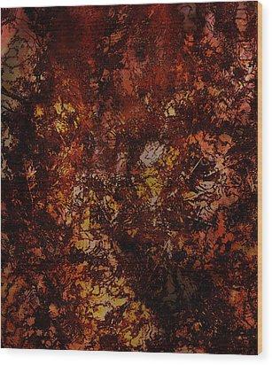 Splattered  Wood Print by James Barnes