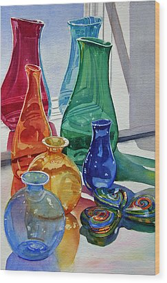 Splendor In The Glass Wood Print