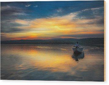 Splendor On The Lake Wood Print