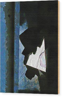 Splintered  Wood Print by Steve Taylor