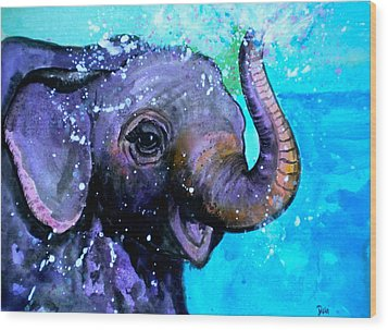 Splish Splash Wood Print by Debi Starr