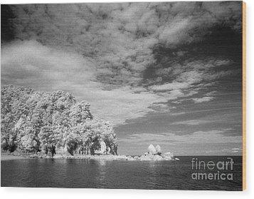 Split Apple Rock Abel Tasman Np Wood Print by Colin and Linda McKie