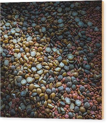 Split Pea Abstract Wood Print by Bob Orsillo