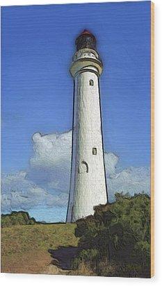 Split Point Lighthouse Wood Print