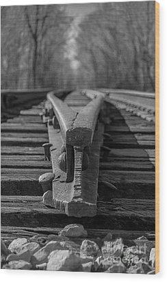 Split Track Wood Print by Rick McKee
