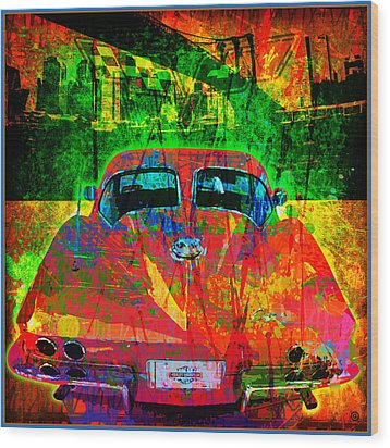 Split Window Corvette Wood Print by Gary Grayson