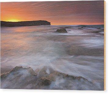 Splitting The Tides Wood Print by Mike  Dawson