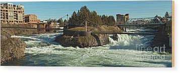 Spokane Falls - Spokane Washington Wood Print by Beve Brown-Clark Photography