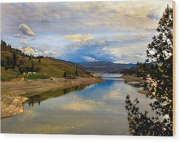Spokane River Wood Print by Robert Bales