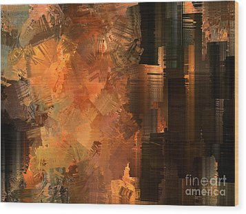 Spontaneous Combustion Wood Print by Sydne Archambault