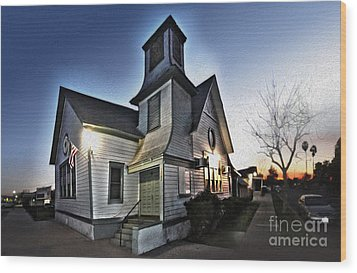 Spooky Church In Chino - 03 Wood Print by Gregory Dyer