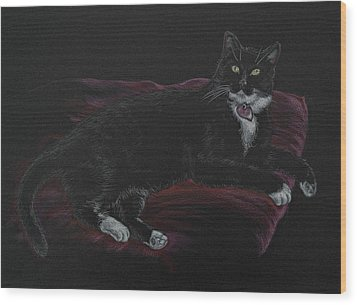 Spooky The Cat Wood Print
